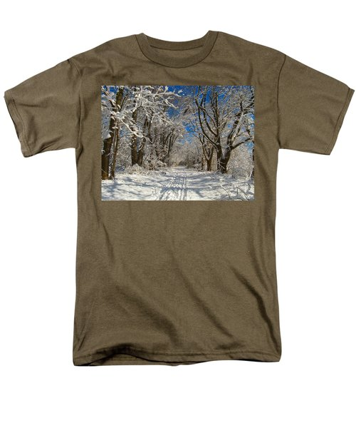 Men's T-Shirt  (Regular Fit) featuring the photograph A Winter Road by Raymond Salani III