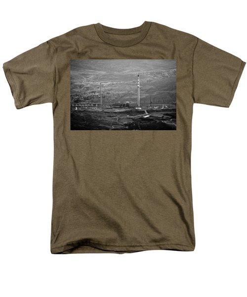 Abandoned Smokestacks Men's T-Shirt  (Regular Fit) by Melinda Ledsome