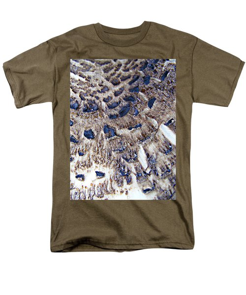 Men's T-Shirt  (Regular Fit) featuring the photograph Abstract Accidental Sapphires by Linsey Williams