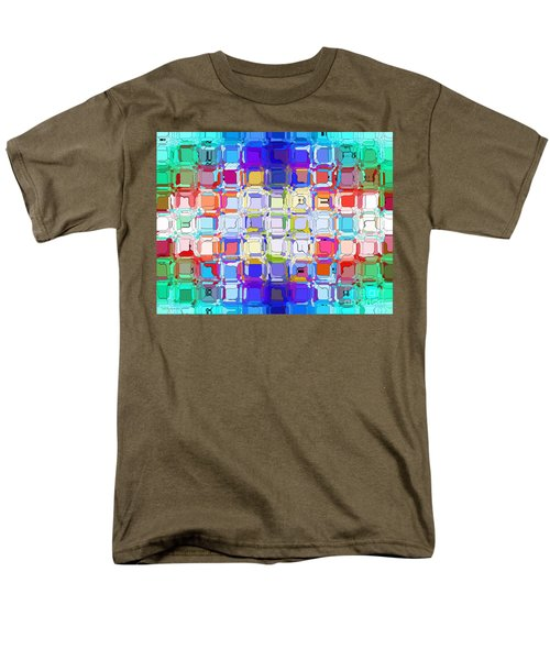 Men's T-Shirt  (Regular Fit) featuring the digital art Abstract Color Blocks by Anita Lewis