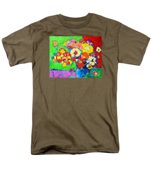 Abstract Colorful Flowers Men's T-Shirt  (Regular Fit) by Ana Maria Edulescu
