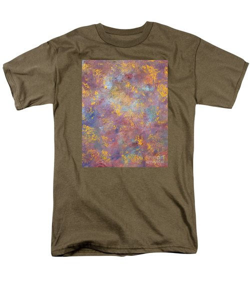 Men's T-Shirt  (Regular Fit) featuring the painting Abstract Impressions by Donna Dixon