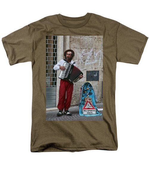 Accordian Player Men's T-Shirt  (Regular Fit) by Hugh Smith