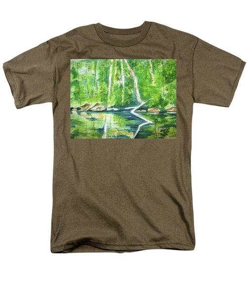 Men's T-Shirt  (Regular Fit) featuring the painting Adirondack Zen by Ellen Levinson