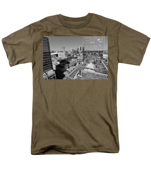Aerial Photography Downtown Nashville Men's T-Shirt  (Regular Fit) by Dan Sproul
