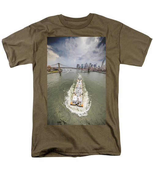 Aerial View - The Barge At The East River Men's T-Shirt  (Regular Fit)