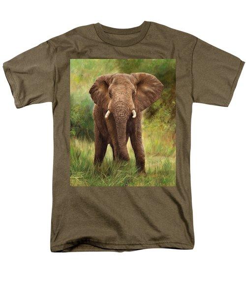 African Elephant Men's T-Shirt  (Regular Fit) by David Stribbling