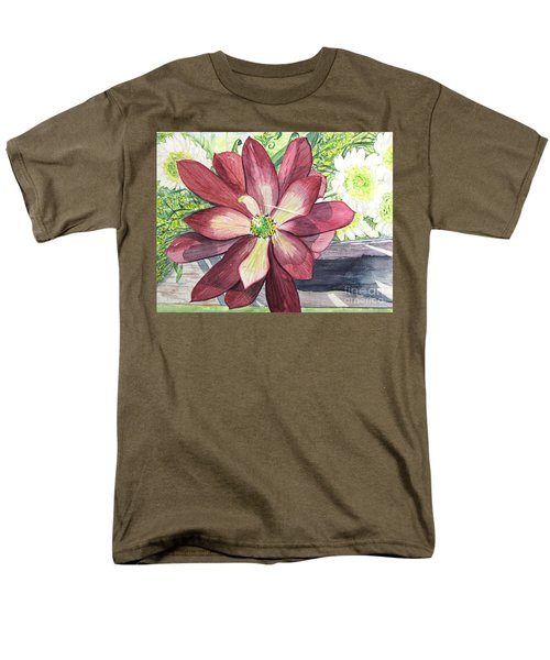 Men's T-Shirt  (Regular Fit) featuring the painting African Flower by Carol Flagg