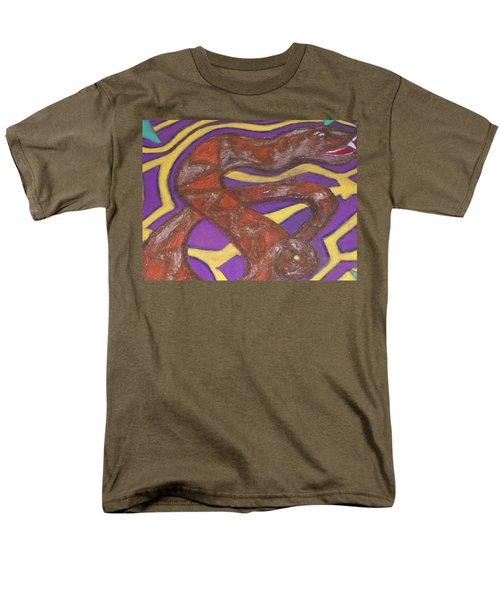 African Snake Diety Men's T-Shirt  (Regular Fit) by Jonathon Hansen