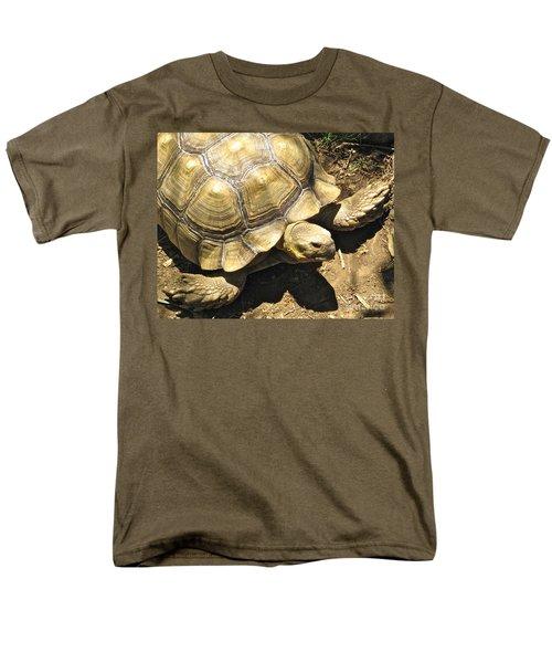 African Spurred Tortoise Men's T-Shirt  (Regular Fit) by CML Brown