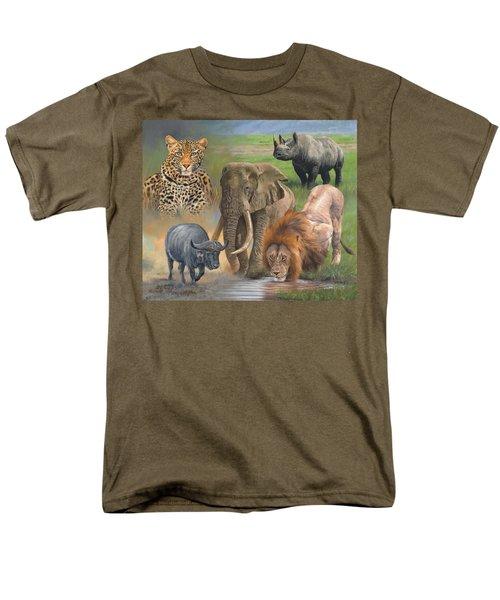 Africa's Big Five Men's T-Shirt  (Regular Fit) by David Stribbling
