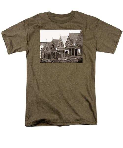 Men's T-Shirt  (Regular Fit) featuring the photograph Alamo Square - Victorian Painted Ladies 2009 by Connie Fox