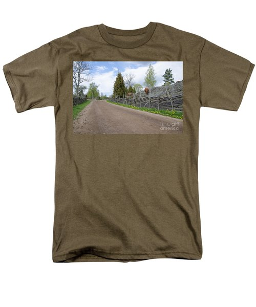 Along An Old Fashioned Road Men's T-Shirt  (Regular Fit) by Kennerth and Birgitta Kullman
