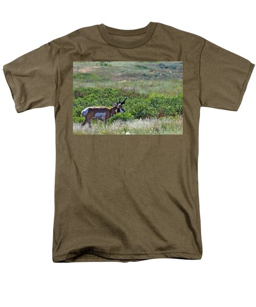 Men's T-Shirt  (Regular Fit) featuring the photograph American Pronghorn Buck by Karon Melillo DeVega