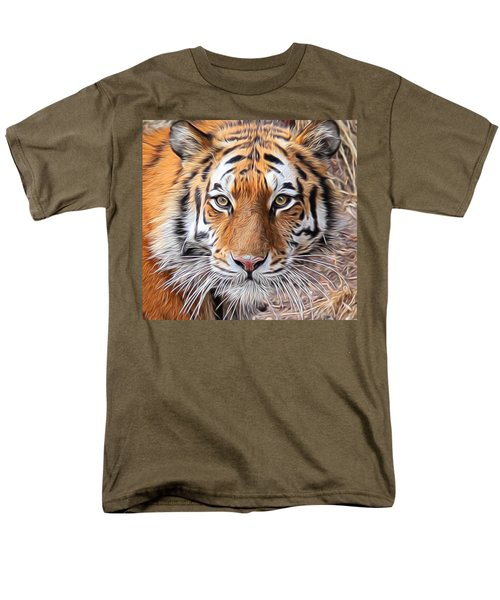 Amur Tiger Portrait Men's T-Shirt  (Regular Fit) by Diane Alexander