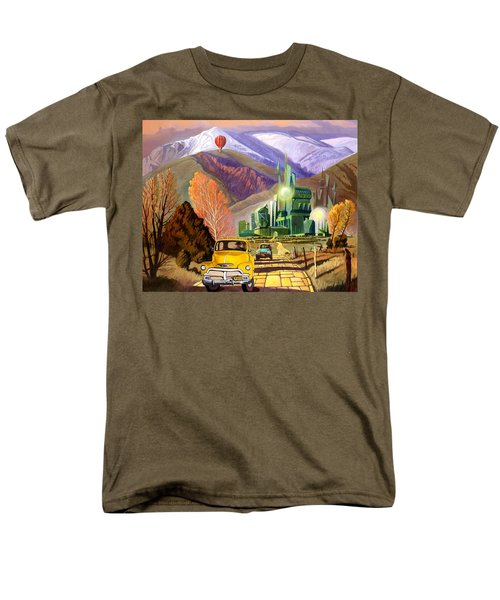 Men's T-Shirt  (Regular Fit) featuring the painting Trucks In Oz by Art James West
