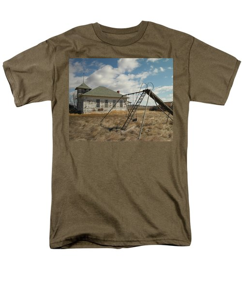An Old School Near Miles City Montana Men's T-Shirt  (Regular Fit) by Jeff Swan