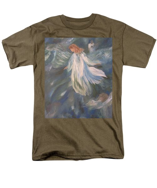 Angels Watching Over Us Men's T-Shirt  (Regular Fit) by Christy Saunders Church