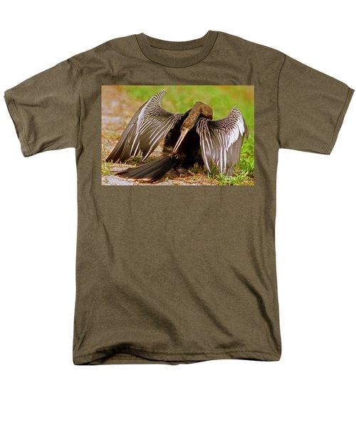Anhinga Anhinga Anhinga Preening Men's T-Shirt  (Regular Fit) by Millard H. Sharp