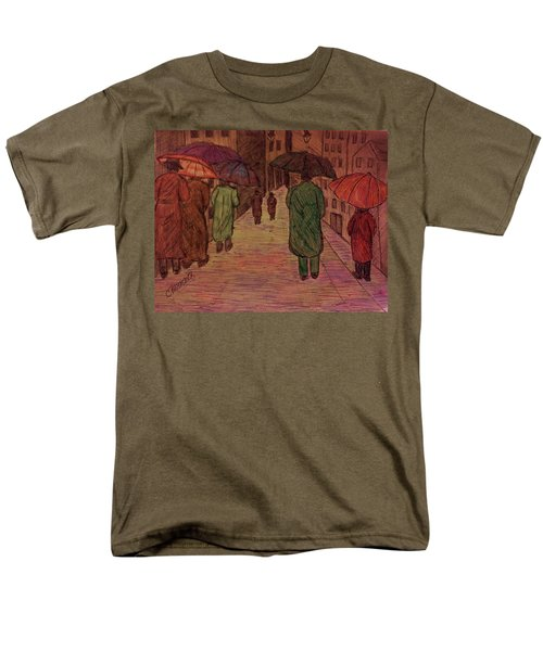 Another Walk In The Rain Men's T-Shirt  (Regular Fit) by Christy Saunders Church
