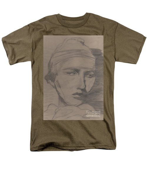 Men's T-Shirt  (Regular Fit) featuring the drawing Antigone By Jrr by First Star Art