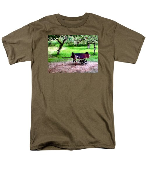Antique Wheelbarrow Men's T-Shirt  (Regular Fit) by Sadie Reneau