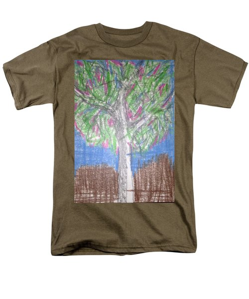 Men's T-Shirt  (Regular Fit) featuring the drawing Apple Tree by Erika Chamberlin