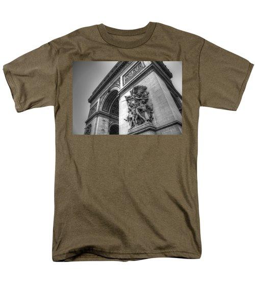 Arc De Triomphe In Black And White Men's T-Shirt  (Regular Fit) by Jennifer Ancker