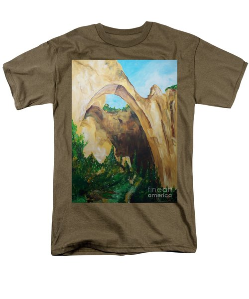 Men's T-Shirt  (Regular Fit) featuring the painting Arch by Eric  Schiabor