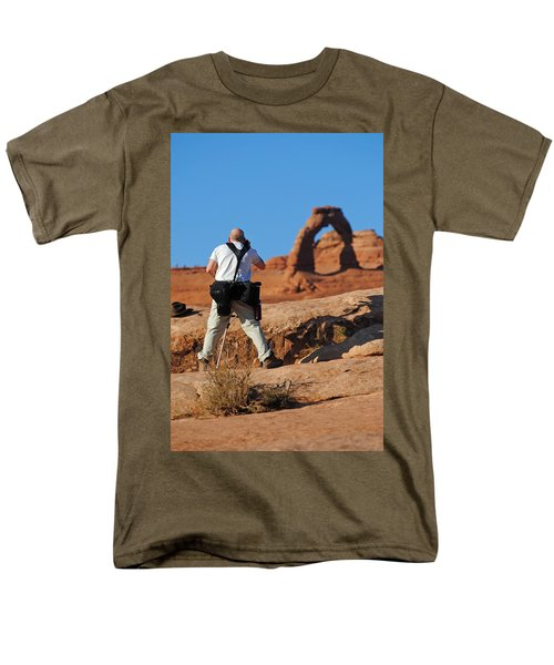 Men's T-Shirt  (Regular Fit) featuring the photograph Arches Np 27 by Jeff Brunton
