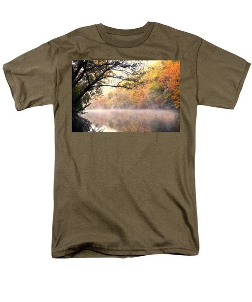 Men's T-Shirt  (Regular Fit) featuring the photograph Arching Tree On The Current River by Marty Koch