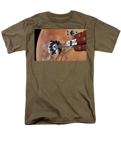 Ares1 Captured Over Valles Marineris Men's T-Shirt  (Regular Fit) by David Robinson