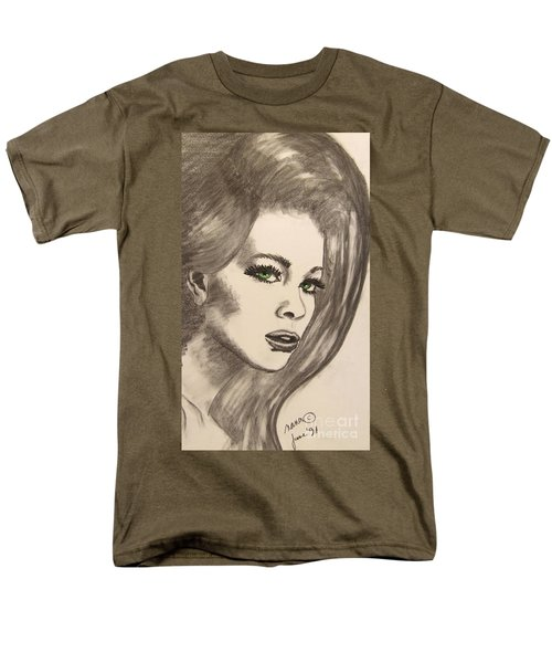 Men's T-Shirt  (Regular Fit) featuring the drawing Ashton by Marianne NANA Betts