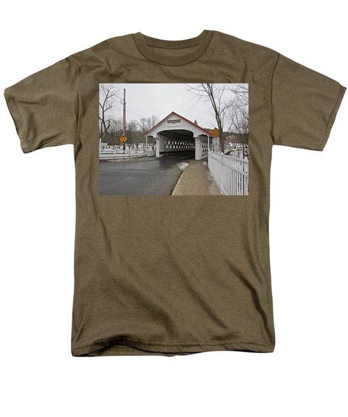 Ashuelot Bridge Men's T-Shirt  (Regular Fit) by MTBobbins Photography