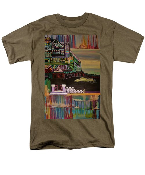 Men's T-Shirt  (Regular Fit) featuring the painting Atlantis by Barbara St Jean