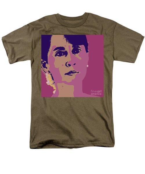Aung San Suu Kyi Men's T-Shirt  (Regular Fit) by Jean luc Comperat