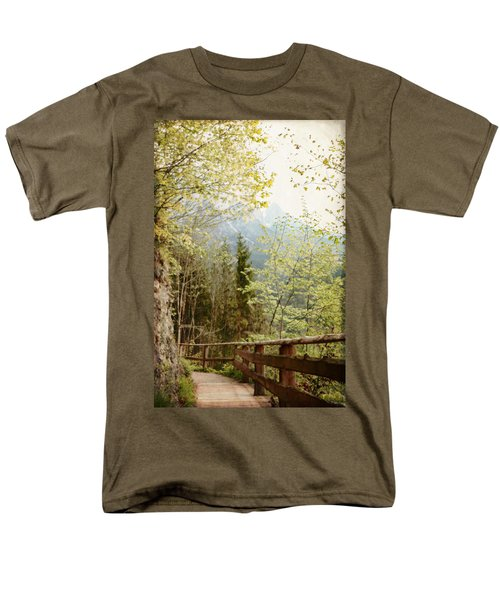 Austrian Woodland Trail And Mountain View Men's T-Shirt  (Regular Fit) by Brooke T Ryan