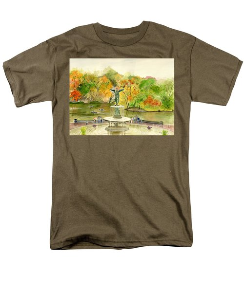 Autumn At Central Park Ny Men's T-Shirt  (Regular Fit) by Melly Terpening
