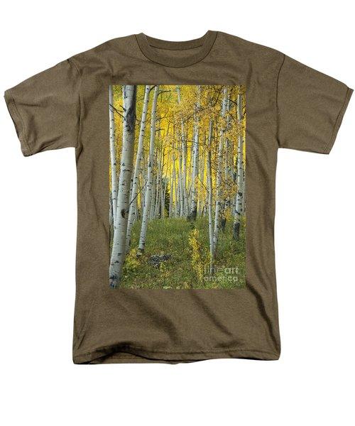 Autumn In The Aspen Grove Men's T-Shirt  (Regular Fit) by Juli Scalzi
