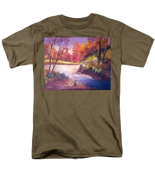 Autumn Leaves Men's T-Shirt  (Regular Fit) by Catherine Swerediuk