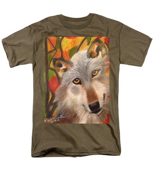 Autumn Wolf Men's T-Shirt  (Regular Fit) by Renee Michelle Wenker