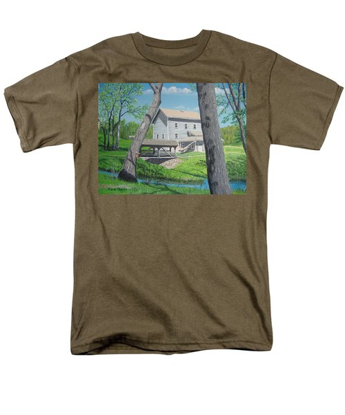 Award-winning Painting Of Beckman's Mill Men's T-Shirt  (Regular Fit) by Norm Starks