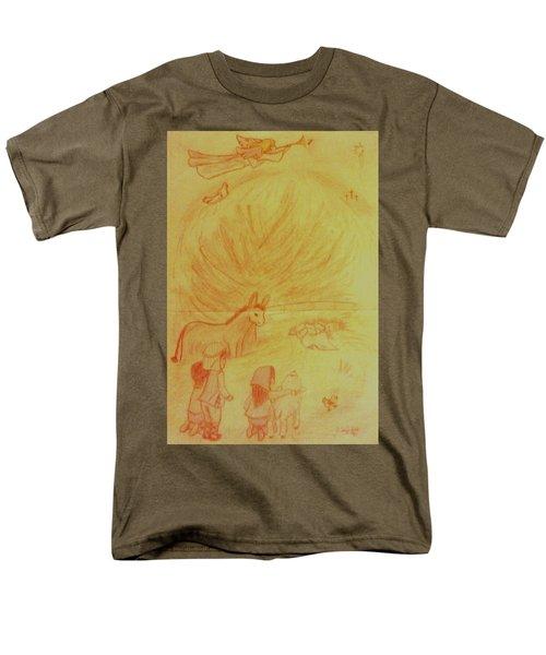 Away In A Manger Men's T-Shirt  (Regular Fit) by Christy Saunders Church
