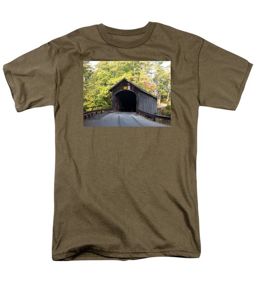 Babbs Covered Bridge Men's T-Shirt  (Regular Fit) by Catherine Gagne