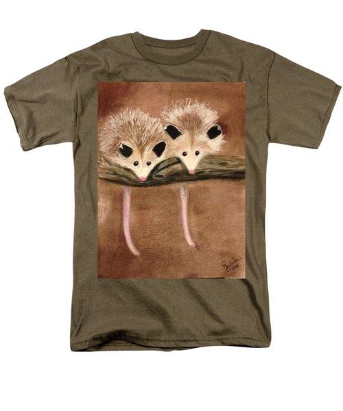 Baby Possums Men's T-Shirt  (Regular Fit) by Renee Michelle Wenker