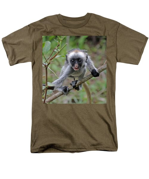 Baby Red Colobus Monkey Men's T-Shirt  (Regular Fit) by Tony Murtagh