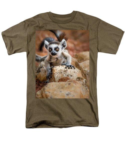 Baby Ringtail Lemur Men's T-Shirt  (Regular Fit) by Linda Villers