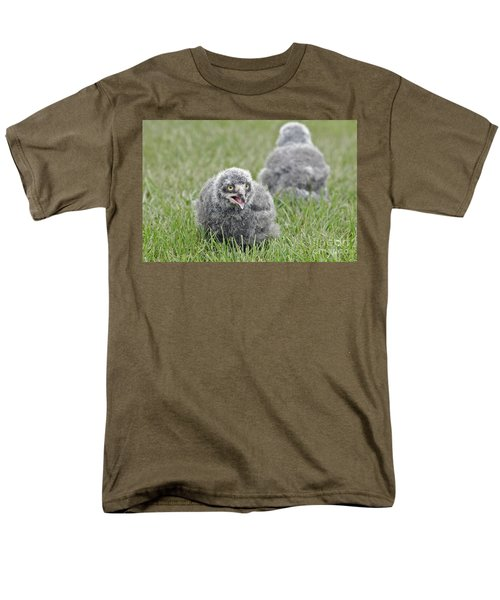 Baby Snowy Owls Men's T-Shirt  (Regular Fit) by JT Lewis