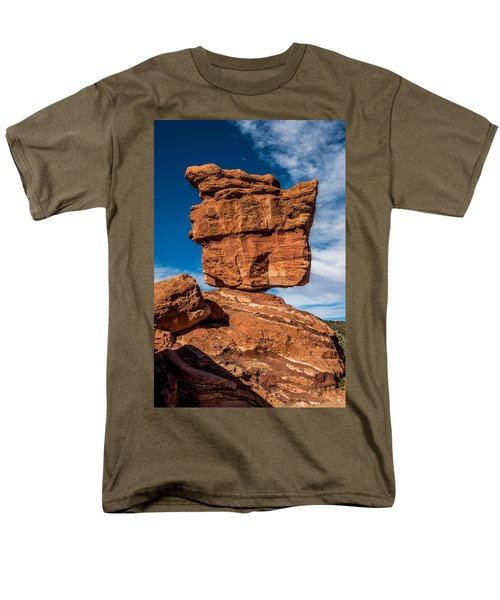 Balanced Rock Garden Of The Gods Men's T-Shirt  (Regular Fit) by Paul Freidlund