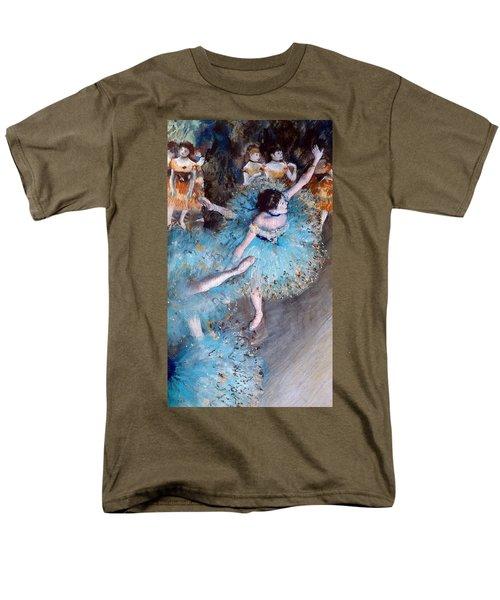 Ballerina On Pointe  Men's T-Shirt  (Regular Fit) by Edgar Degas